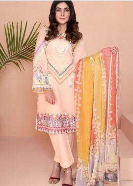 Oture Printed Lawn Stitched 3 Piece Suit OD3S200016
