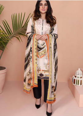 Oture Printed Lawn Stitched 3 Piece Suit OD3S20003