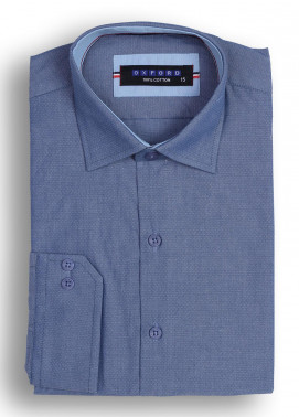 Oxford Cotton Casual Shirts for Men - Dark Blue Mens Formal Shirt SH 1302 D BLUE