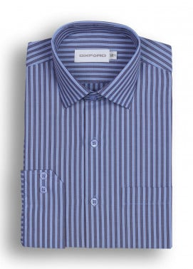 Oxford 80/20 Striped Shirts for Men - Brown Mens Formal Shirt SH 1445 BROWN