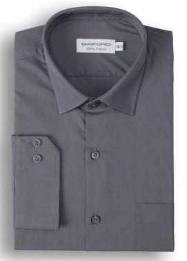 Oxford Cotton Formal Shirts for Men - Charcoal Mens formal shirts SH 1184-19 CHARCOAL FORMAL