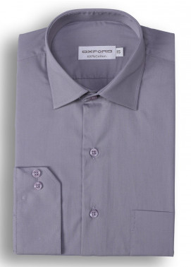 Oxford Cotton Formal Men Shirts - Grey Mens formal shirts SH 1184-19 GREY FORMAL