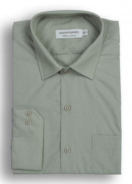 Oxford Cotton Formal Shirts for Men - Olive Mens formal shirts SH 1184-19 L OLIVE