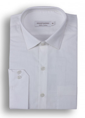 Oxford Cotton Formal Men Shirts - Off White Mens formal shirts SH 1184-19 OFF WHITE FORMAL