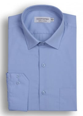 Oxford Cotton Formal Men Shirts - Sky Blue Mens formal shirts SH 1184-19 SKY BLUE