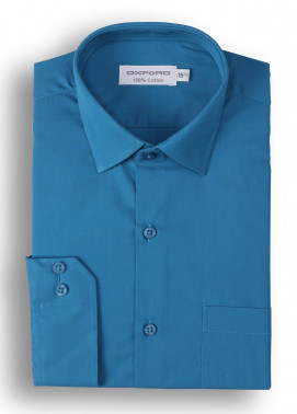 Oxford Cotton Formal Men Shirts - Teal Mens formal shirts SH 1184-19 TEAL FORMAL