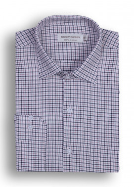 Oxford Cotton Checked Shirts for Men - Black Mens formal shirts SH 1395 BLACK CHECK