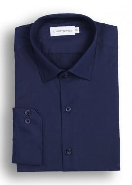 Oxford 80/20 Formal Men Shirts - Navy Blue Mens Plain Shirt SH 1293-5 N BLUE