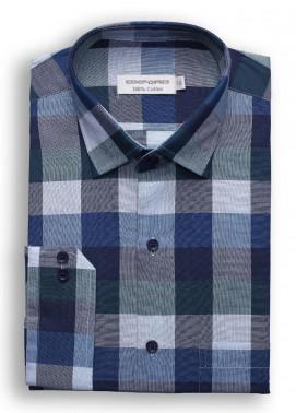 Oxford Cotton Checked Shirts for Men - Blue SH 1498 MIXED CHECK