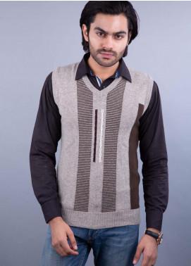 Oxford Lambswool Sleeveless Men Sweaters -  505 LMB S-L BROWN