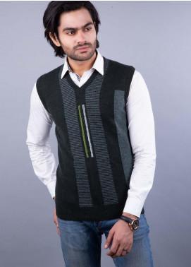 Oxford Lambswool Sleeveless Men Sweaters -  505 LMB S-L D OLIVE