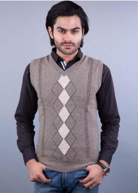 Oxford Lambswool Sleeveless Men Sweaters -  517 LMB S-L BROWN