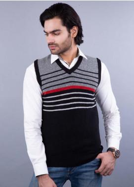 Oxford Lambswool Sleeveless Sweaters for Men -  521 LMB S-L BLACK