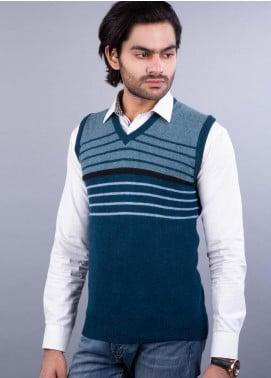 Oxford Lambswool Sleeveless Sweaters for Men -  521 LMB S-L PETROL