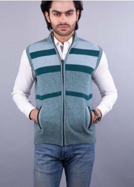 Oxford Lambswool Sleeveless Zipper Men Sweaters - 507 S-L ZIP L OLIVE