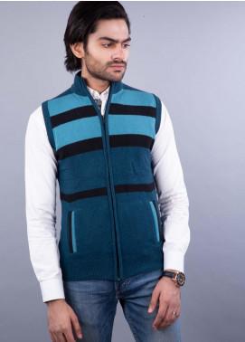 Oxford Lambswool Sleeveless Zipper Sweaters for Men - 507 S-L ZIP PETROL