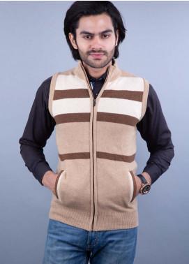 Oxford Lambswool Sleeveless Zipper Men Sweaters - 507 S-L ZIP SAVANNA