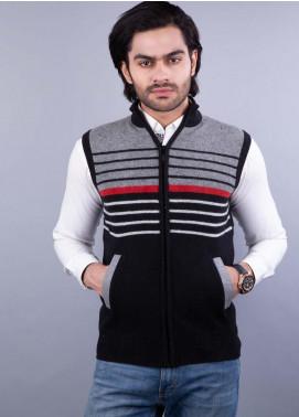 Oxford Lambswool Sleeveless Zipper Sweaters for Men - 521 S-L ZIP BLACK
