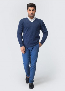 Oxford Woollen Full Sleeves Men Sweaters -  02 MEDIUM BLUE