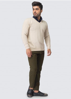 Oxford Woollen Full Sleeves Sweaters for Men -  05 NATURAL