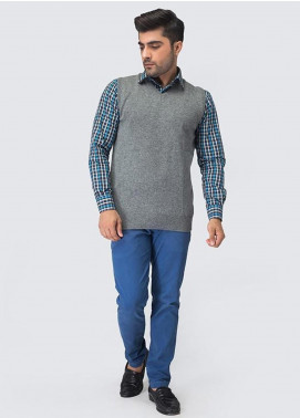 Oxford Woollen Sleeveless Sweaters for Men -  09 GRAY