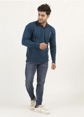 Oxford Woollen Full Sleeves Men Sweaters -  10 BLUE