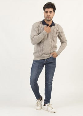 Oxford Woollen Full Sleeves Sweaters for Men -  13 VISO