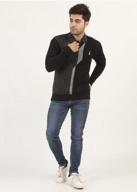 Oxford Woollen Full Sleeves Sweaters for Men -  15 BLACK