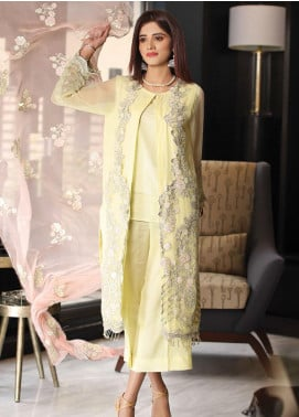 Panache by Puri Fabrics Embroidered Chiffon Unstitched 3 Piece Suit PCH20C 04 Embblaze - Luxury Collection