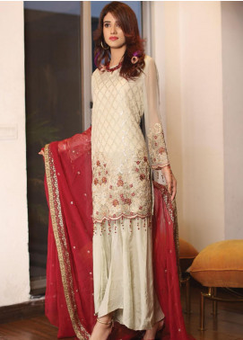 Panache by Puri Fabrics Embroidered Chiffon Unstitched 3 Piece Suit PCH20C 08 Slory - Luxury Collection