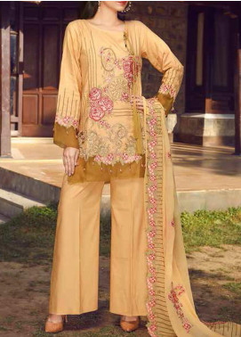 Panache by Puri Fabrics Embroidered Linen Unstitched 3 Piece Suit PCH20LC 06 - Winter Collection