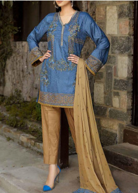 Panache by Puri Fabrics Embroidered Linen Unstitched 3 Piece Suit PCH20LC 07 - Winter Collection
