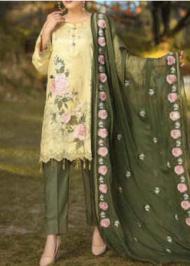 Panache by Puri Fabrics Embroidered Linen Unstitched 3 Piece Suit PCH20LC 08 - Winter Collection