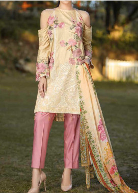Panache by Puri Fabrics Embroidered Linen Unstitched 3 Piece Suit PCH20LC 10 - Winter Collection