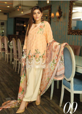 Panache by Puri Fabrics Embroidered Linen Unstitched 3 Piece Suit PCH20LN 09 - Winter Collection