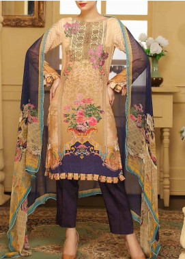Panache by Puri Fabrics Embroidered Viscose Unstitched 3 Piece Suit PE20PF D-09 - Winter Collection