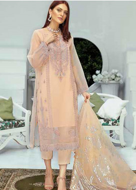 Panache by Puri Fabrics Embroidered Organza Unstitched 3 Piece Suit PCH20W 06 - Wedding Collection