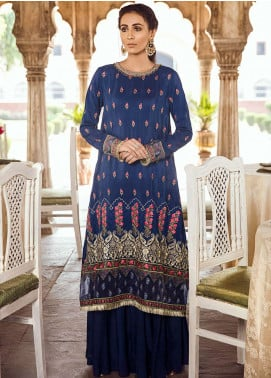 Panache Embroidered Raw Silk Unstitched 3 Piece Suit PN18VM 06 AFAAQ - Luxury Collection