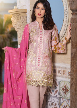 Panache Embroidered Lawn Unstitched 3 Piece Suit PND19L 4 - Spring / Summer Collection