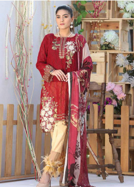 Panache by Puri Fabrics Embroidered Lawn Unstitched 3 Piece Suit PF20P 8 - Summer Collection