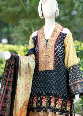 Pearl Closet Embroidered Lawn Unstitched 3 Piece Suit PC19L 19-03 - Spring / Summer Collection