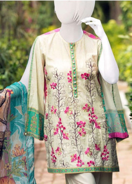 Pearl Closet Embroidered Lawn Unstitched 3 Piece Suit PC19L 19-04 - Spring / Summer Collection