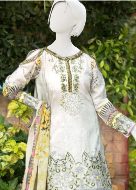 Pearl Closet Embroidered Lawn Unstitched 3 Piece Suit PC19L 19-06 - Spring / Summer Collection