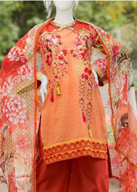 Pearl Closet Embroidered Lawn Unstitched 3 Piece Suit PC19L 19-09 - Spring / Summer Collection