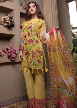Pechan-e-Zan by Iqra Reza Embroidered Lawn Unstitched 3 Piece Suit PZ20IR 001 - Luxury Collection