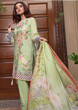 Pechan-e-Zan by Iqra Reza Embroidered Lawn Unstitched 3 Piece Suit PZ20IR 004 - Luxury Collection
