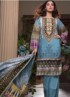 Pechan-e-Zan by Iqra Reza Embroidered Lawn Unstitched 3 Piece Suit PZ20IR 006 - Luxury Collection