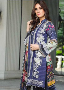 Peridot Embroidered Lawn Unstitched 3 Piece Suit PD19F 10B - Festive Collection