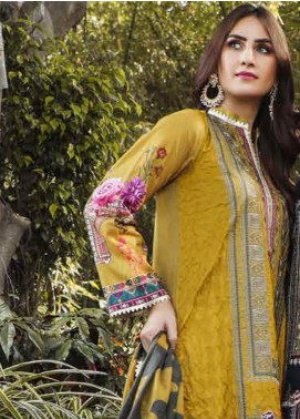 Peridot Embroidered Lawn Unstitched 3 Piece Suit PD19F 1B - Festive Collection