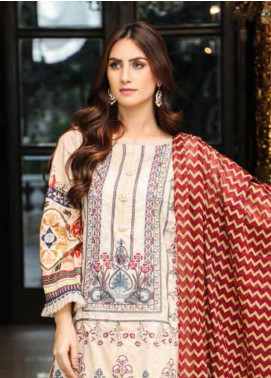 Peridot Embroidered Lawn Unstitched 3 Piece Suit PD19F 2A - Festive Collection